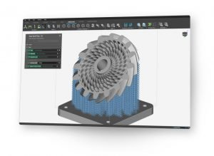 Additively Manufactured Gear with Support structures in nTop Platform Design Software