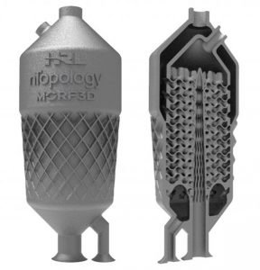 Oil Cooler created using Additive Manufacturing