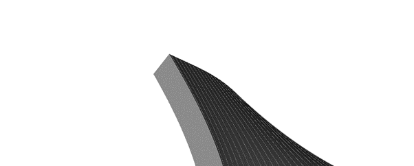 30µm sliced layers of the gyroid showing the boundaries