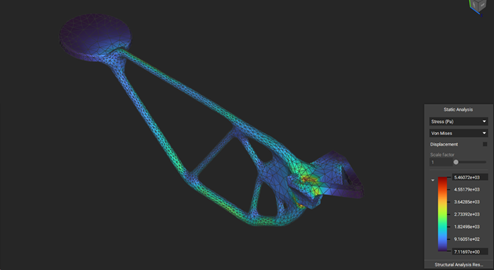 Simulation study of drone arm in nTopology