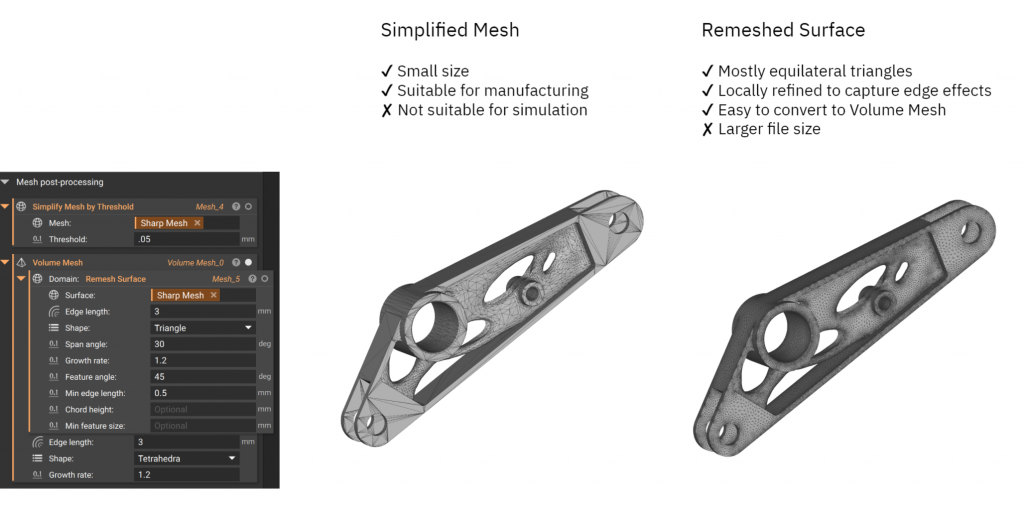 simplify mesh or remesh surface