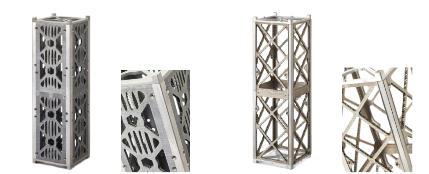 CubeSat - Before and after redesign for additive manufacturing